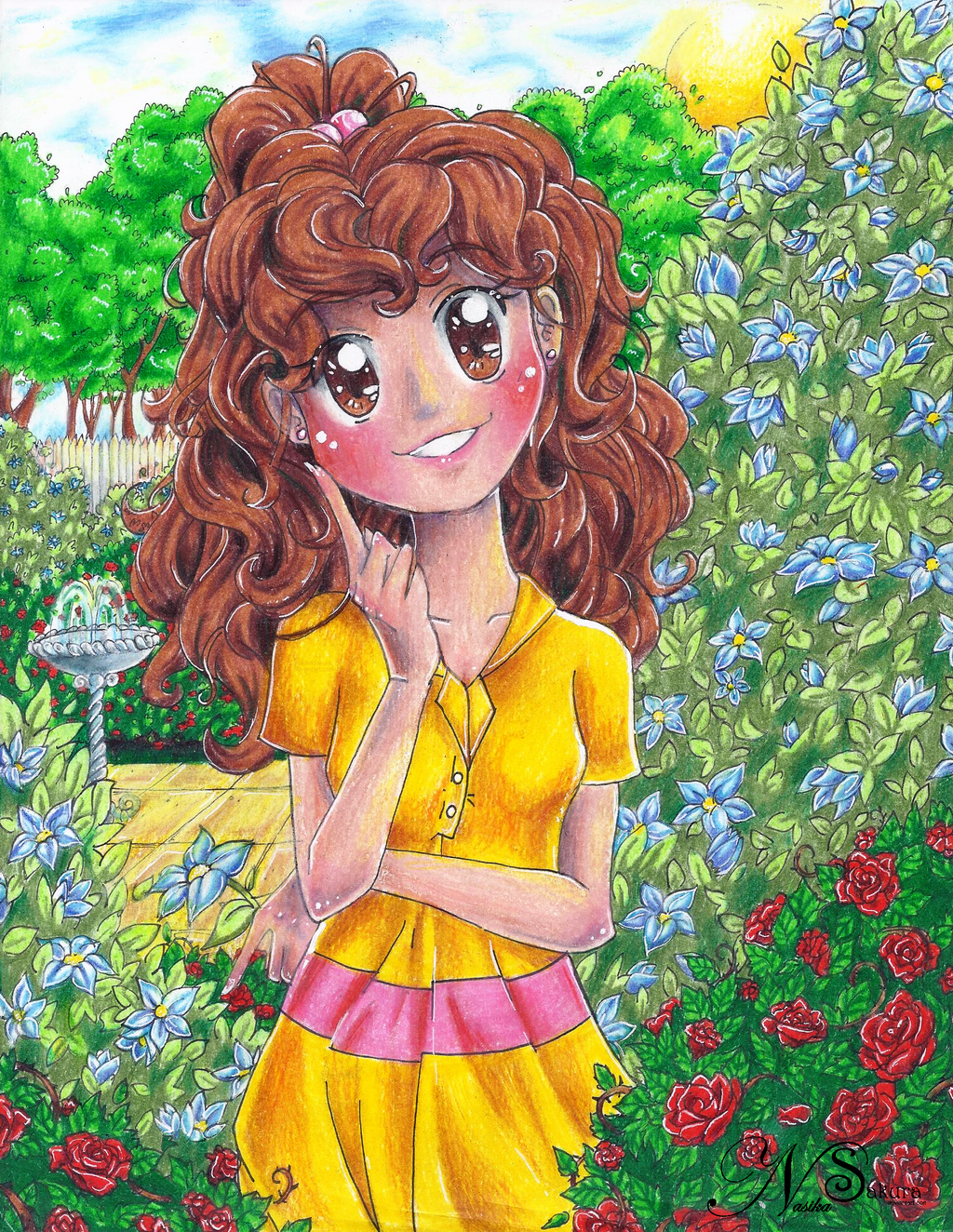 Gracie in the Garden by NasikaSakura