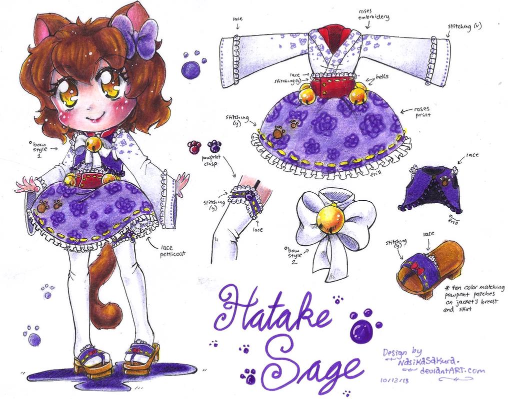 Hatake Sage design sheet by NasikaSakura