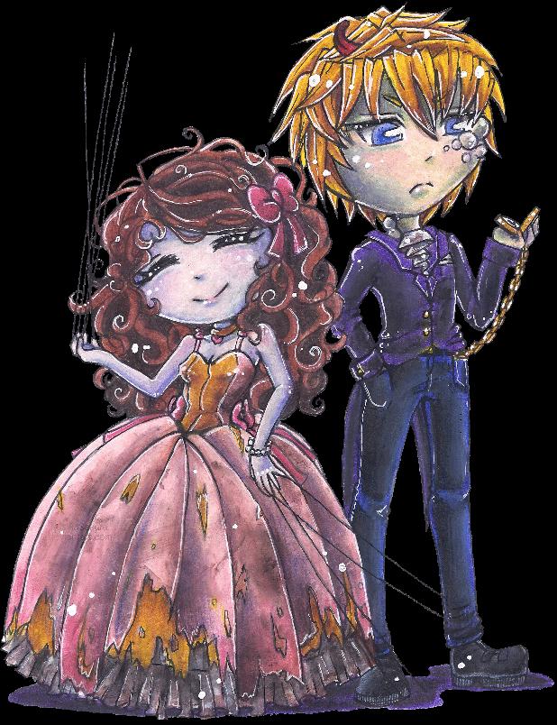 Witch!Nasika and Smoker!Ryo Victorian garb by NasikaSakura