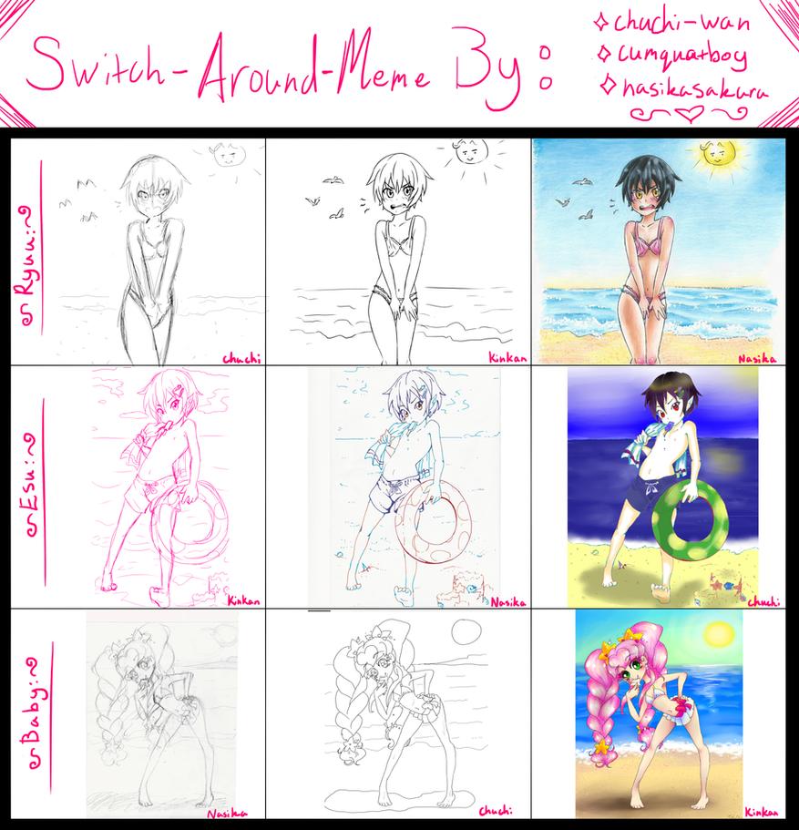NACHUKIN switch around meme by NasikaSakura