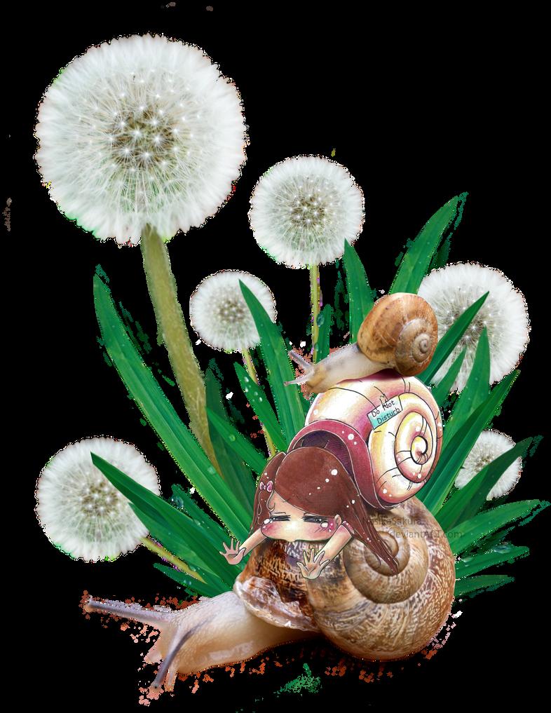 Omnomnom Snail Totem by NasikaSakura