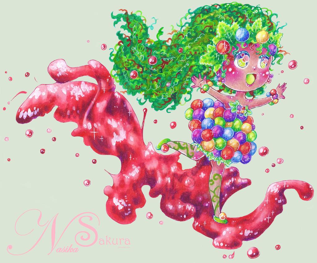 Rainbow Grape +SpeedArt by NasikaSakura