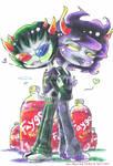 Sollux x Gamzee Homestuck chibis by NasikaSakura