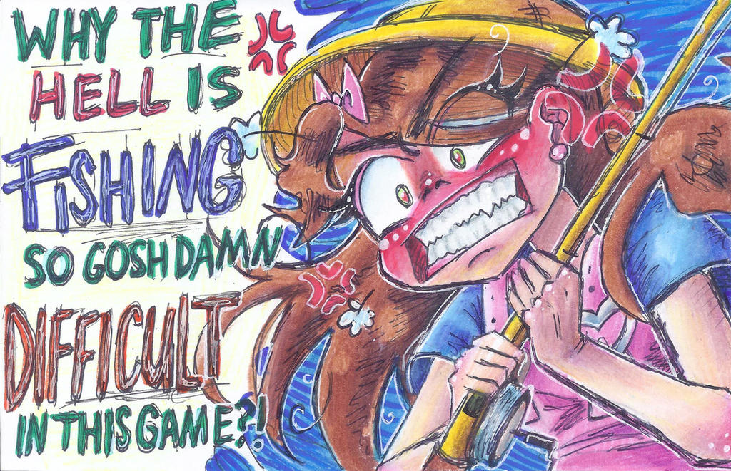 Infuriated Fishing by NasikaSakura