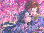 Emperor and Empress Among Cherry Blossoms 1 of 4