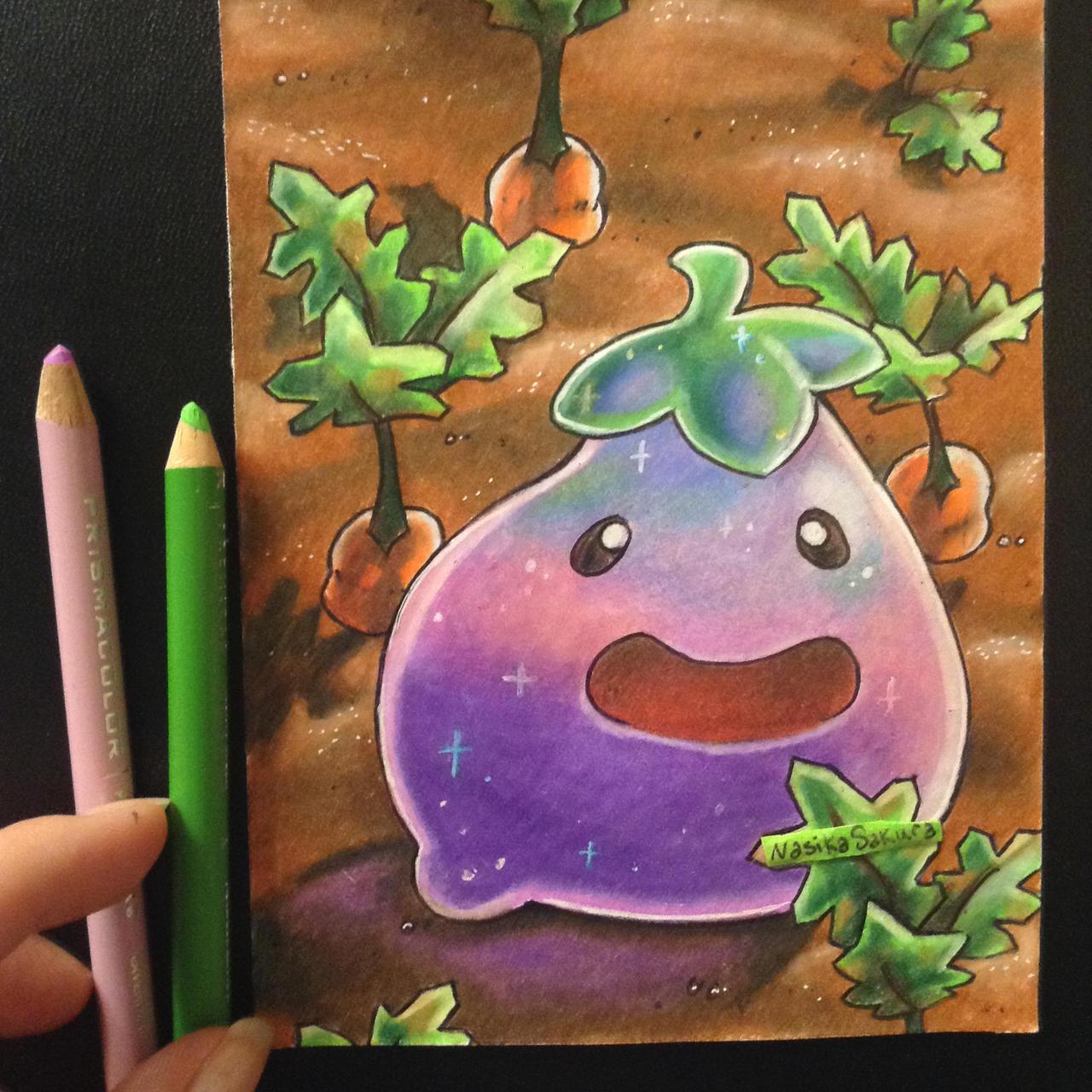 Kawaii Eggplant Slime