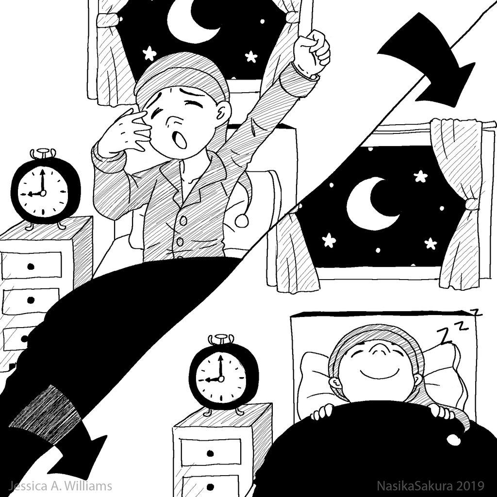 Clipart: To Fall Asleep