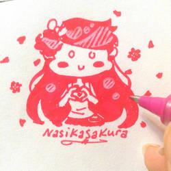 Pink Heart Hands by NasikaSakura