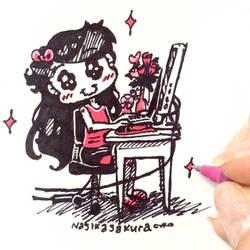 A Tiny Office Chair by NasikaSakura