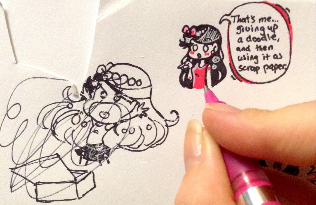 That's Me... Giving Up on a Doodle [full view]