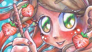 Crunchy Strawberry_ YT Speedart Thumbnail