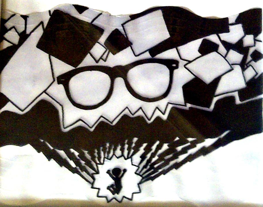 Glasses, squares and lightning by silvifu