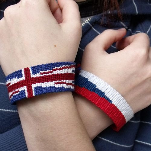 Union Jack bracelet by letax