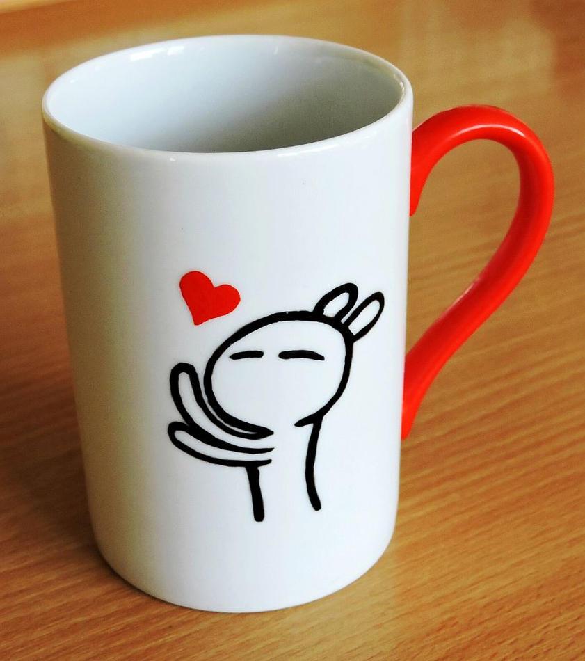 Tuzki mug by letax