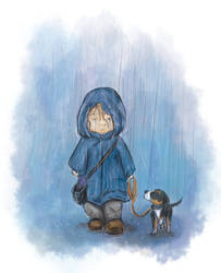 Rainy Walk by keksimtee