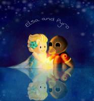 Elsa and Pyro by LegoRielArt