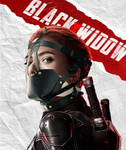 Black Widow Muzzle Gagged
