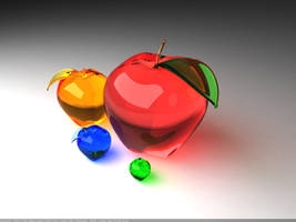 Glass apples by Senthrax