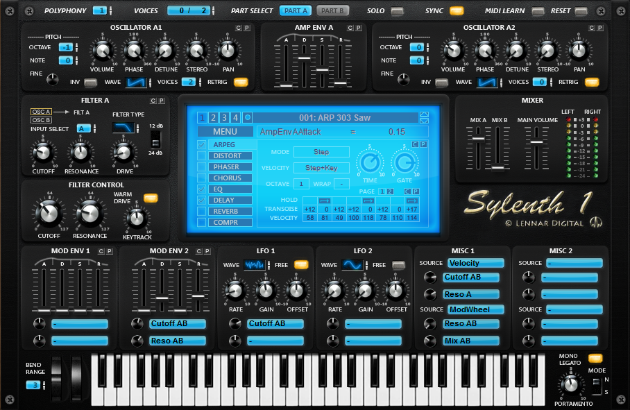 Custom Sylenth1 skin by Senthrax
