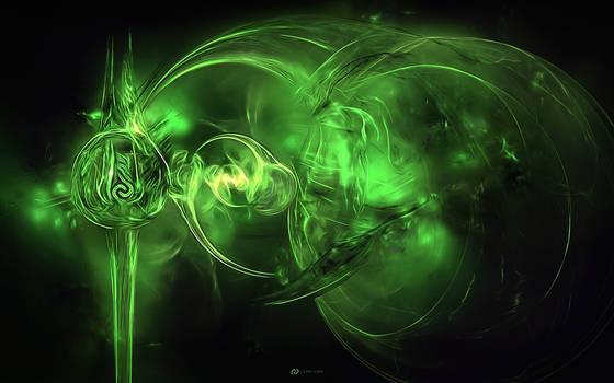 Cosmic Core 3 Wallpaper - Green