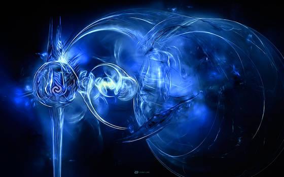 Cosmic Core 3 Wallpaper - Blue