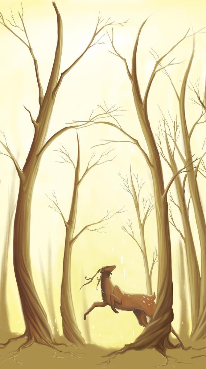 The happy deer by lakramel