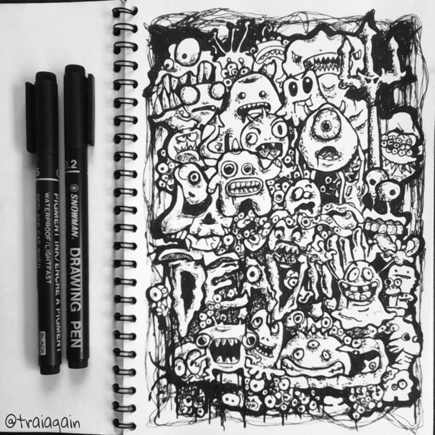 Doodle art dead by traiagain on deviantart for Doodle art monster