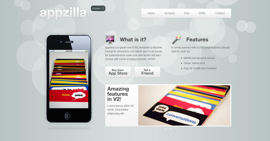 Appzilla Portfolio - App theme by martin870