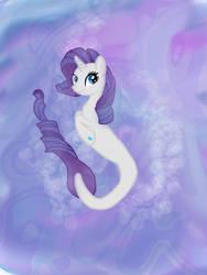Updated Sea Pony Rarity by diamondpaintbrush