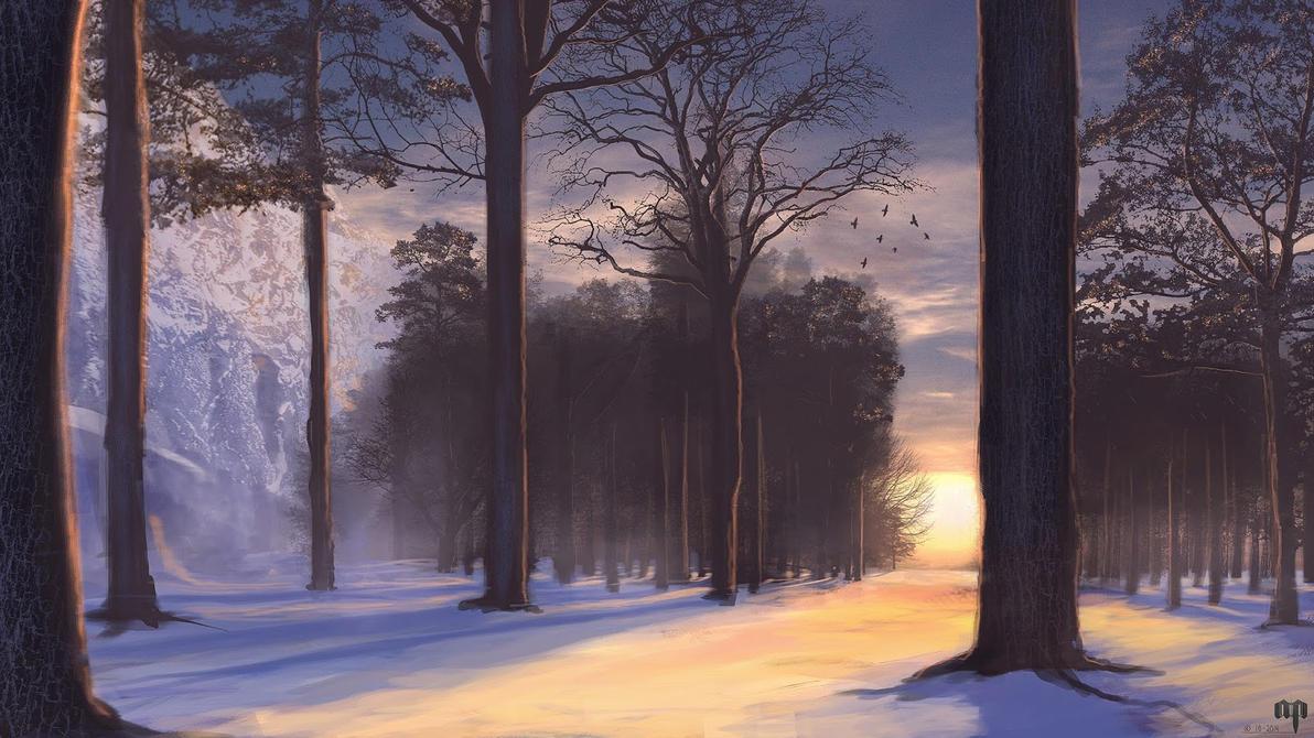 Quick winter sketch by Patheme