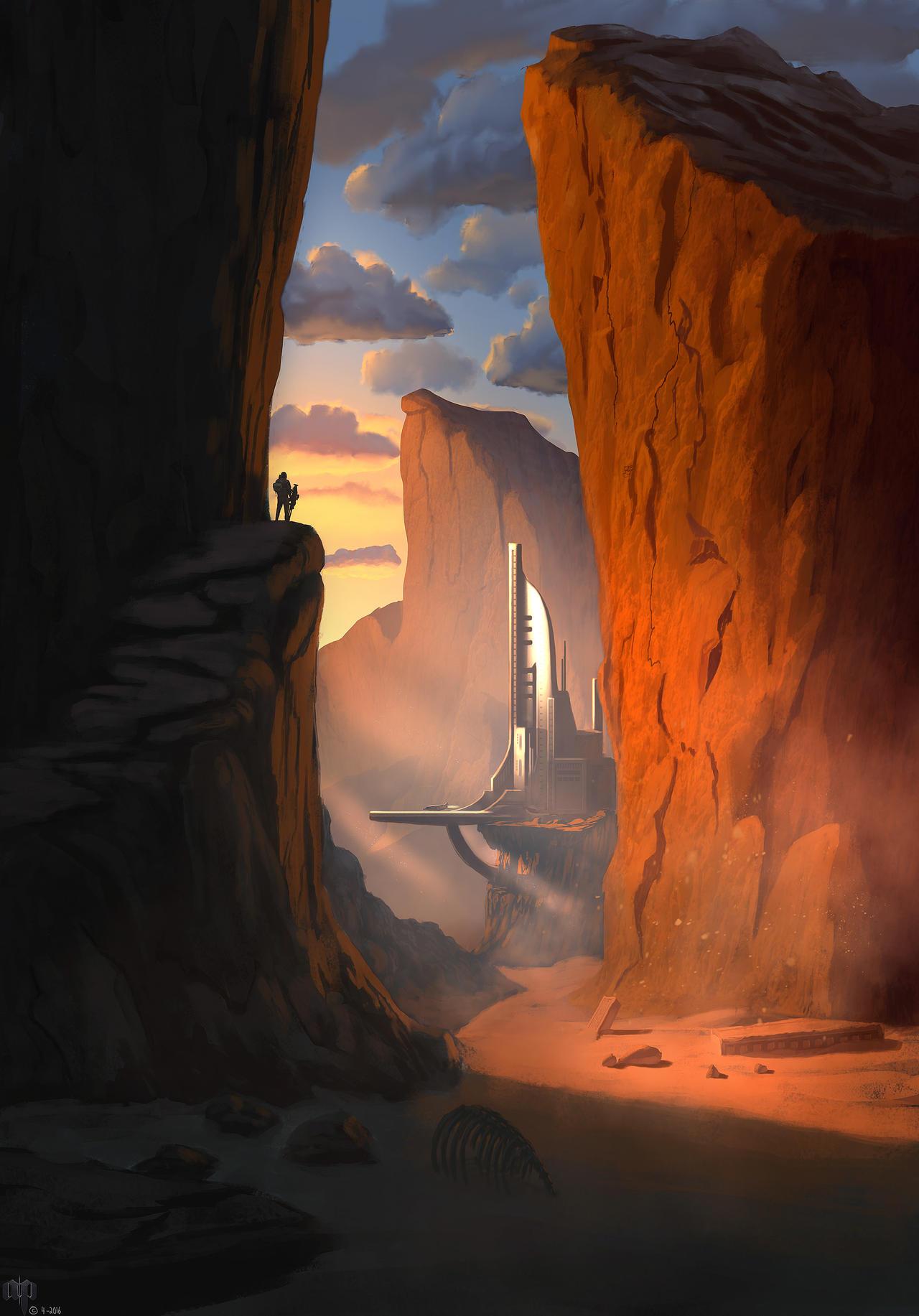 Desert Station by Patheme