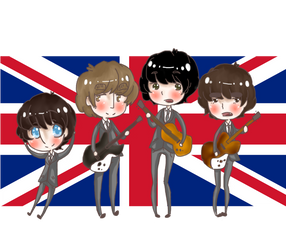 The Beatles chibi
