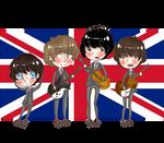 The Beatles chibi