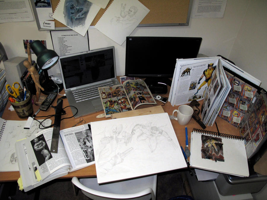 artist office mangaka my office by paulart on deviantart