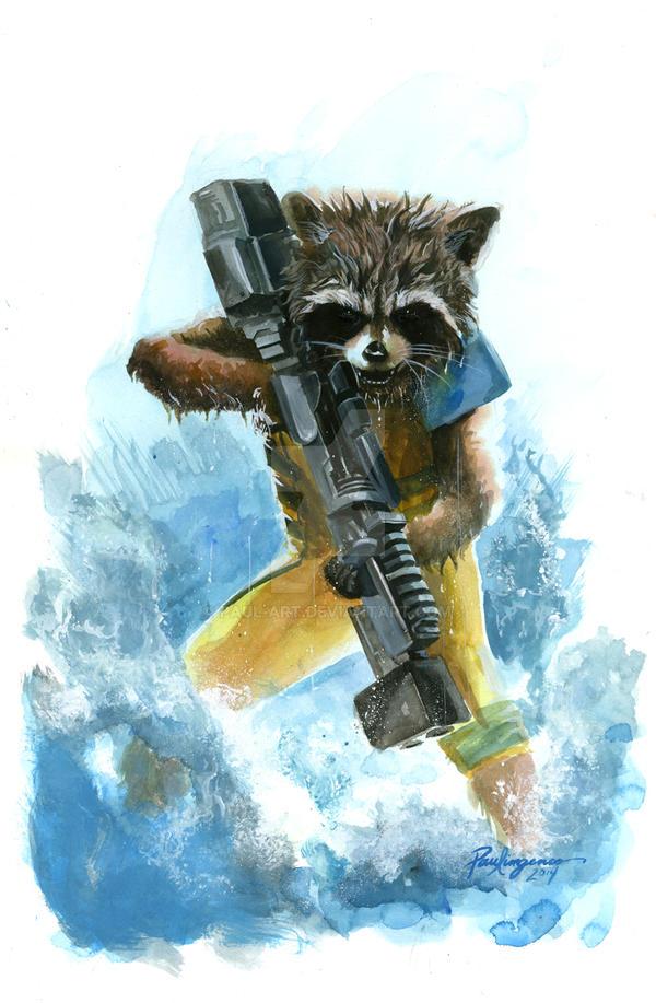 Rocket Racoon by Paul-art