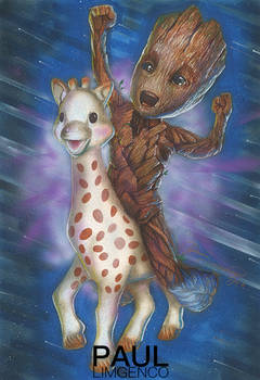 Baby Groot and Sophie