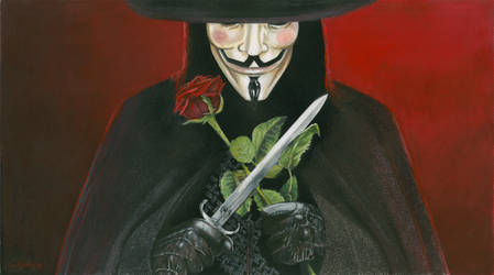 V For Vendetta - Fawkes by mravey