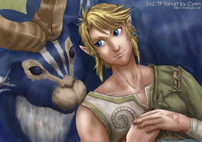Ordon Goat and Link by cyen