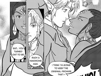 Link and Nabooru by cyen