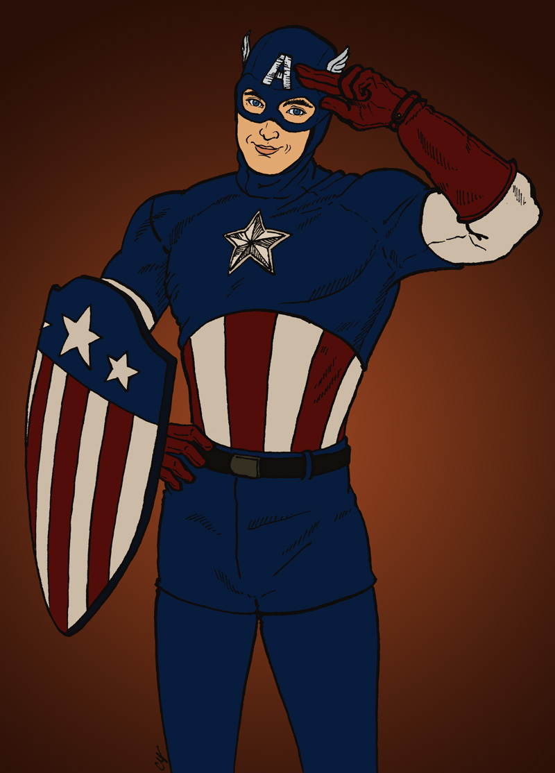 War Bond Captain America by cyen