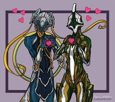 Nyx and Nezha Hearts