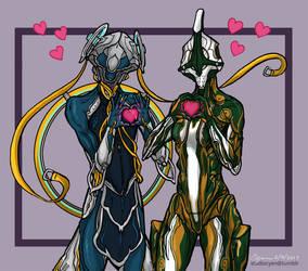 Nyx and Nezha Hearts by cyen