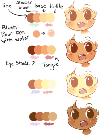 Some Skin Palettes! (use if you want) by ribbon-adopts