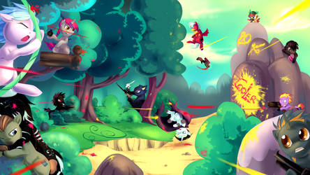 MLP : CM Paintball Wars by bakki