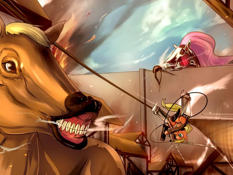 Attack on Horsey by bakki