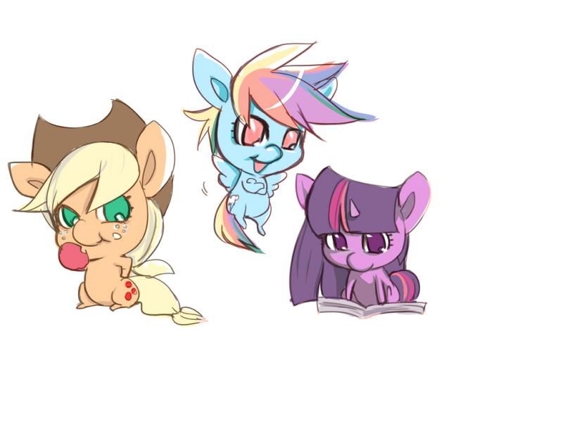 Big head ponies by bakki