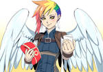 Commission: Rainbow Feather the Medic