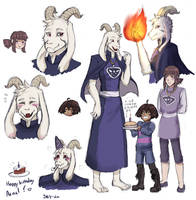 Happy birthday Asriel (Caretaker-au) by SKY-Lia
