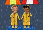Lilo and Victoria in the rain