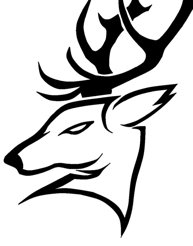Stag Head by Theneck4544 on DeviantArt